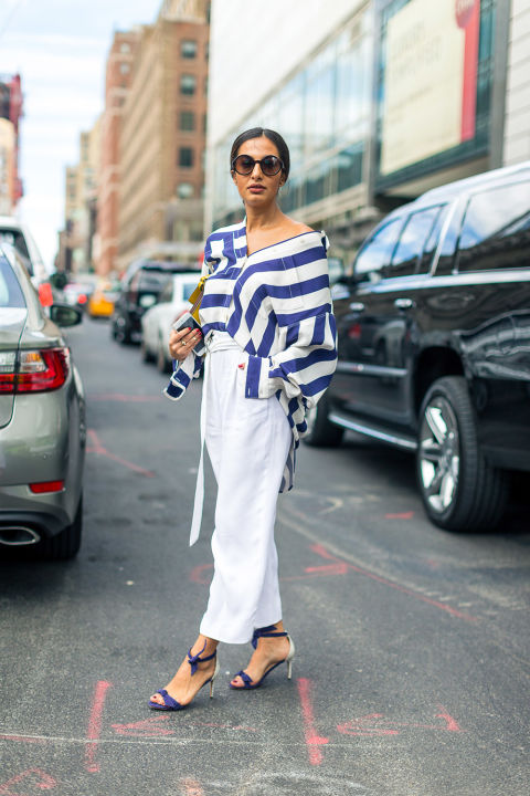 one-shoulder-stripes-white-after-labor-day-white-pants-oversized-oxford-shirt-hack-nyfw-street-style-fall-outfits-hbz