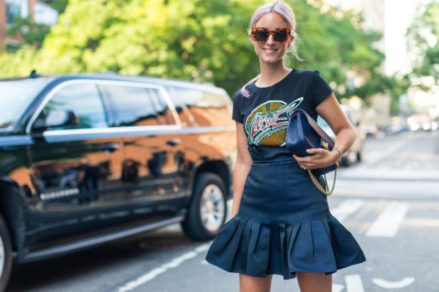 peplum-skirt-rocker-vintage-band-tee-rocker-tee-graphic-tee-fall-outfit-nyfw-street-style-hbz-weekend-out