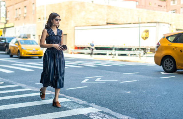 pinstripes-apron-dress-mules-fall-outfit-nyfw-street-style-hbz-fall-work-outfit