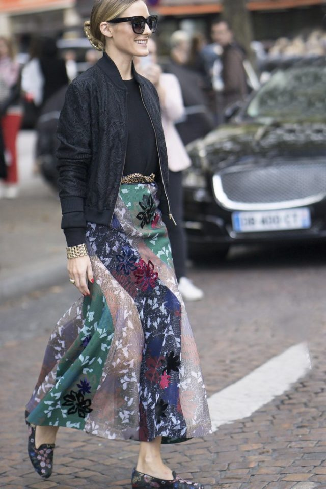 printed-maxi-skirt-fall-maxi-skirt-maxis-bomber-jacket-bomber-jacket-and-skirt-olivia-palermo-fall-work-outfit-going-out-night-out-pfw-ss-2017-street-style-ps