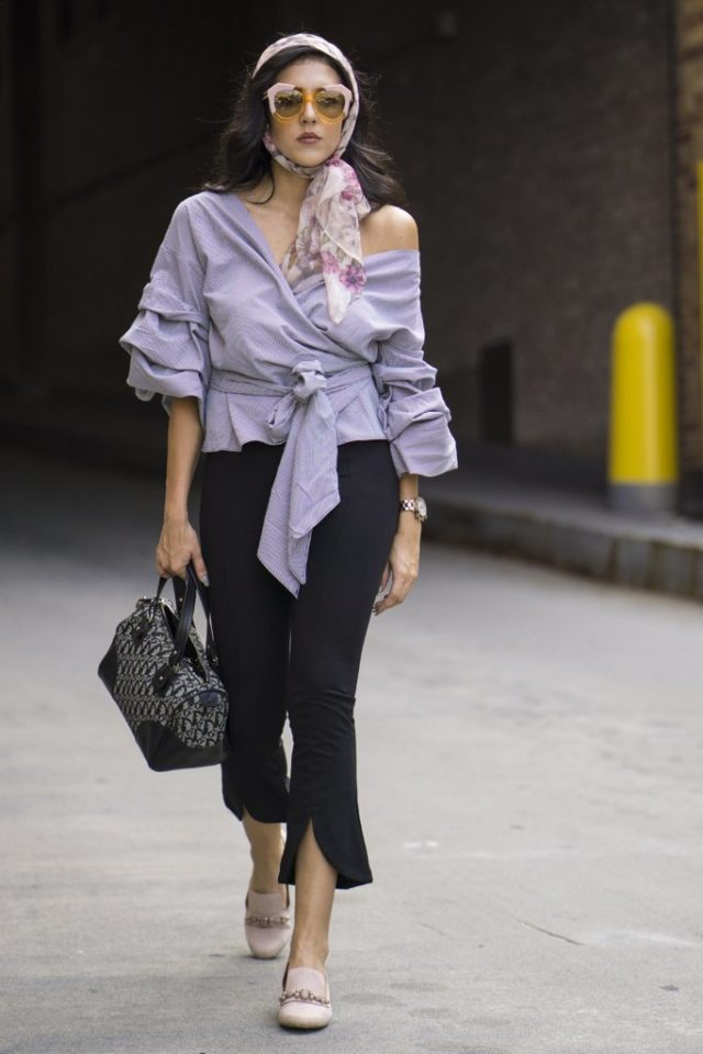 ruffles-belted-top-off-the-shoulder-slitted-ankle-pants-loafers-going-out-nyfw-street-style-ps