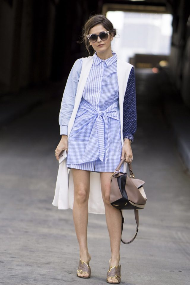 sleeveless-jacket-vest-shirtdress-shirt-dress-mules-nyfw-street-style-ps-fall-work-outfit