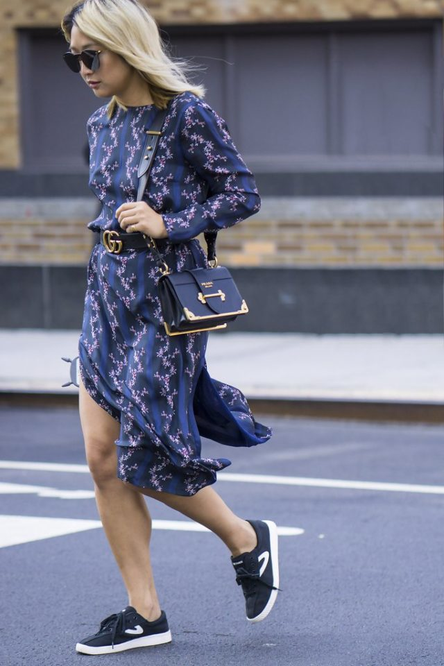 sneakers-and-dresses-gucci-logo-belt-fall-florals-fall-work-outfit-nyfw-street-style-ps