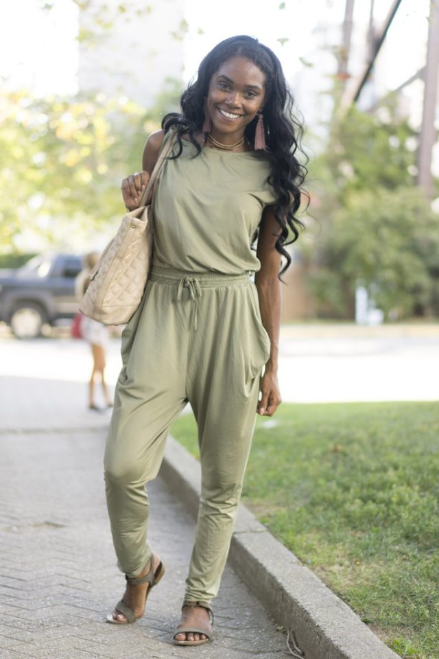summer-to-fall-transitional-dressing-army-green-jumpsuit-jumpsuit-fall-work-sandals-nyfw-street-style-
