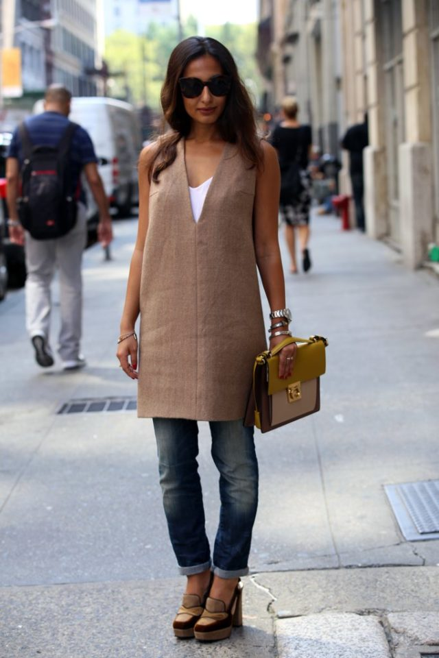 tunic-rolled-jeans-platform-loafers-fall-work-outfit-nyfw-street-style-ps