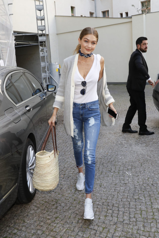 weekend-outfit-fall-weekend-outfit-long-cardigan-boyfriend-cardigan-straw-tote-cropped-skinny-jeans-distressed-denim-white-tee-and-jeans-white-sneakers-nyfw-mc