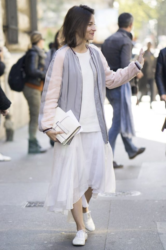 white-after-labor-day-all-white-bomber-jacket-maria-duenas-jacobs-fall-work-outfit-midi-skirt-sweaters-and-skirts-pfw-ss-2017-street-style-ps