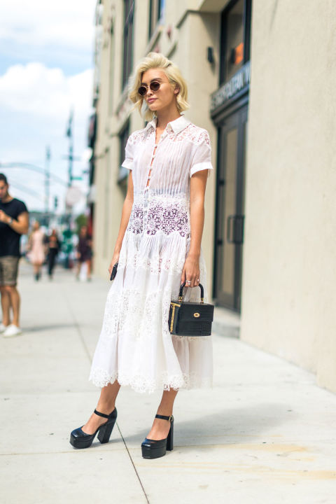 white-after-labor-day-platform-mary-janes-top-handle-bag-white-shirt-dress-nyfw-street-style-fall-fashion-hbz