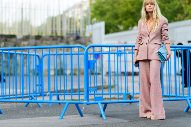 blush pink, pastel pink pantsuit, pants suit, fall work outfit, paris fashion week street style ss 2017,