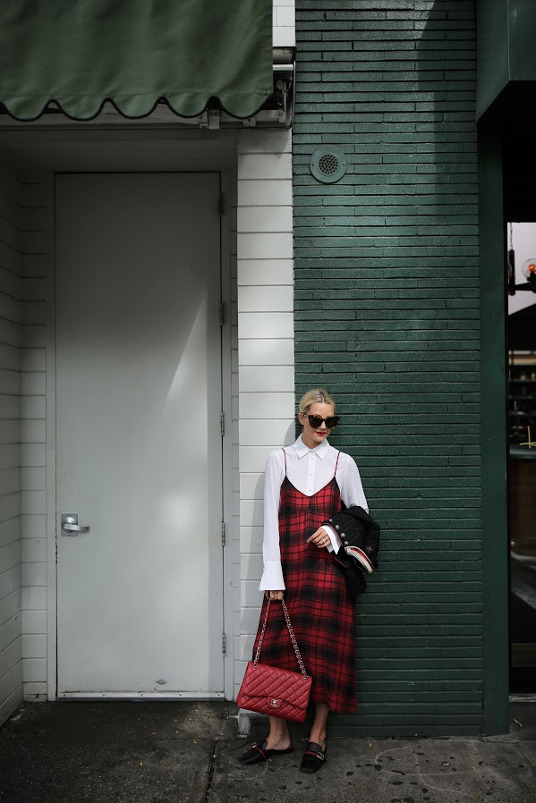 plaid-slipdress-slip-dress-fall-work-gucci-loafers-slides-atlantic-pacific