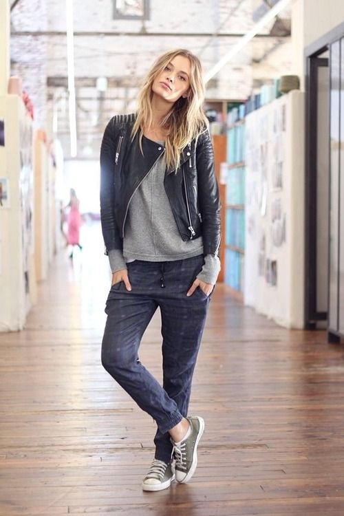 joggers-sweats-black-leather-moto-jacket-sneakers-weekend-